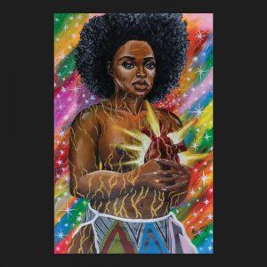 Golden heart of a woman